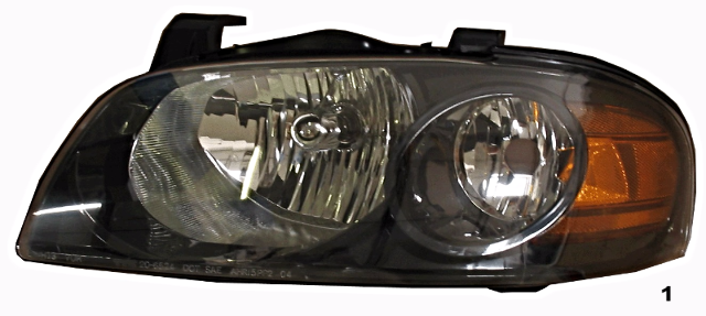 Fits 04-06 NISSAN SENTRA LEFT DRIVER HEADLAMP ASSEMBLY With/BLACK HOUSING