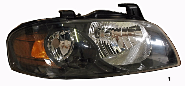Fits 04-06 NISSAN SENTRA RIGHT PASSENGER HEADLAMP ASSEMBLY With/BLACK HOUSING