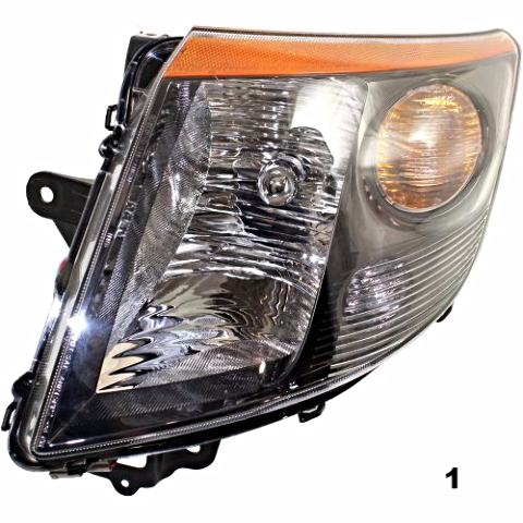 Fits 07-09 NISSAN SENTRA RIGHT PASSENGER HEADLAMP ASSEMBLY With/SMOKE TRIM