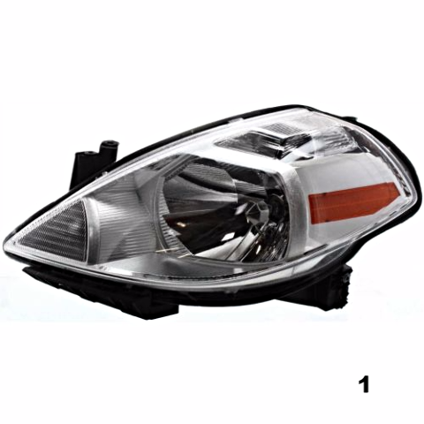 Fits 7-11 NISSAN VERSA / 12 VERSA HATCHBACK LEFT DRIVER HEADLAMP ASSEMBLY