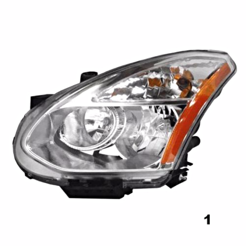 Fits 08-13 NISS ROGUE LT DR HID HEADLAMP ASSM W/O HID KIT W/O RIBBED SIGNAL LENS