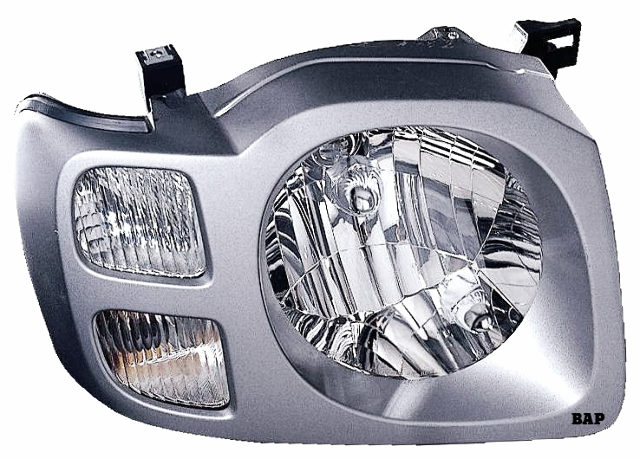 Fits 02-04 NISSAN XTERRA RIGHT PASSENGER HEADLAMP ASSEMBLY With/SILVER BEZEL