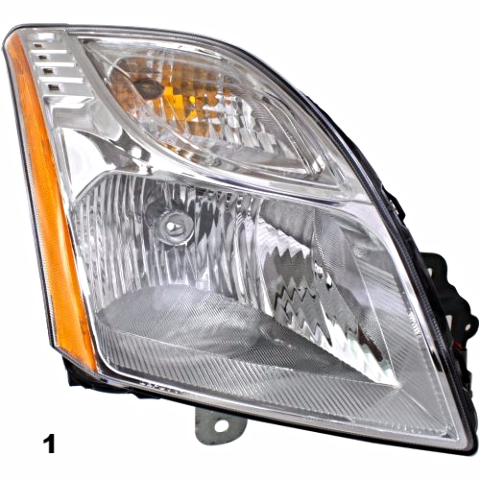 Fits 10-12 NISSAN SENTRA RIGHT PASSENGER HEADLAMP ASSEMBLY With/CHROME BEZEL