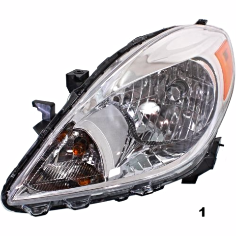 Fits 12-14 NISSAN VERSA SEDAN LEFT & RIGHT SET HEADLAMP ASSEMBLIES