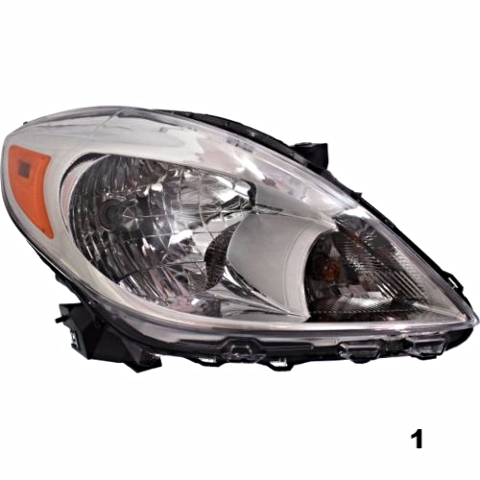 Fits 12-14 NISSAN VERSA SEDAN RIGHT PASSENGER HEADLAMP ASSEMBLY