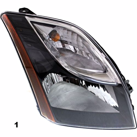 Fits 10-12 NISSAN SENTRA RIGHT PASSENGER HEADLAMP ASSEMBLY With/SMOKED BEZEL