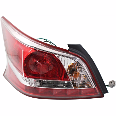 Fits 13-15 Nissan Altima Sedan Driver Side Tail Lamp with Red Edge Trim