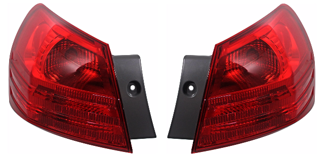 Fits 08-13 NISSAN ROGUE 14-15 SELECT LEFT & RIGHT SET TAIL LAMP ASSEM QTR MOUNT