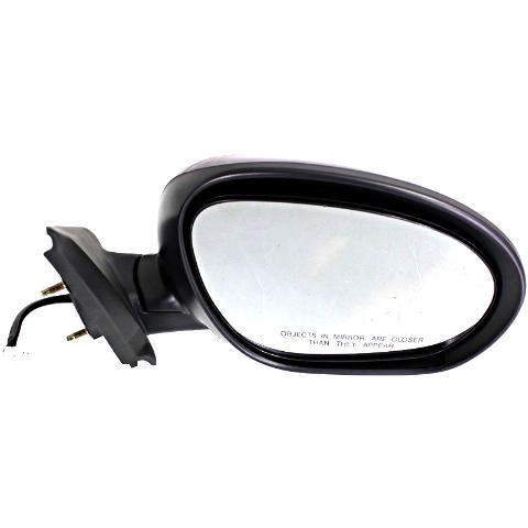 Fits 11-14 Nissan Juke Right Passenger Power Mirror Unpainted Black No Heat