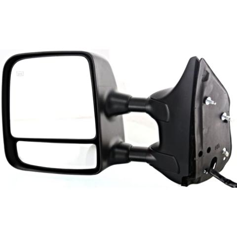 Fits 04-15 Titan Left Driver Telescopic Tow Mirror Pwr Chrome, Ht, Mem,Dual Arms