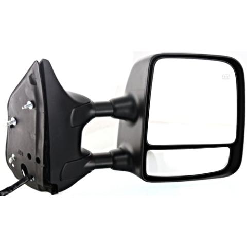 Fits 04-15 Titan Right Pass Telescopic Tow Mirror Pwr Chrome, Ht, Mem, Dual Arms