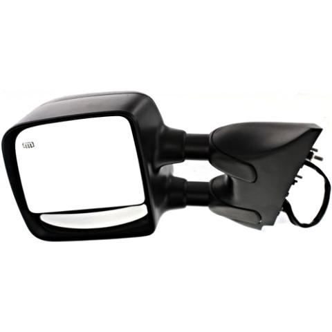 Fits 04-15 Titan Left Driver Telescopic Tow Mirror Textured Power Heat Dual Arm