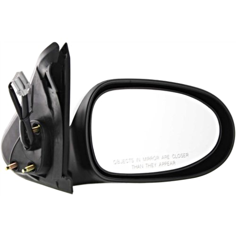 Fits 00-06  Sentra Right Pass Power Mirror Smooth Black Without Heat