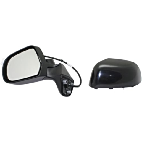 Fits 14-15  Versa Note Left Driver Power Mirror Unpainted No Ht/Camera