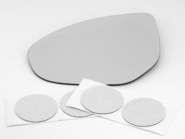 Fits 11-14  2, 10-13  3 Left Driver Mirror Glass Lens Heated w/Adhesive