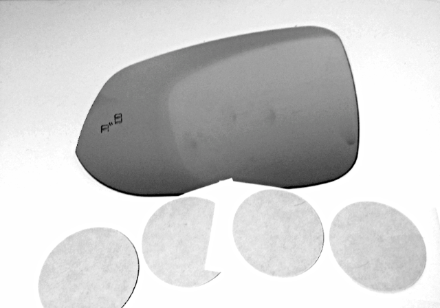 Fits 16-18 Tacoma Left Driver Mirror Glass Lens w/Blind Spot Icon*