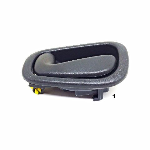 Fits 98-02 Toy Corolla, Chev Prism Left Front/Rear Int Man Door Handle Gray