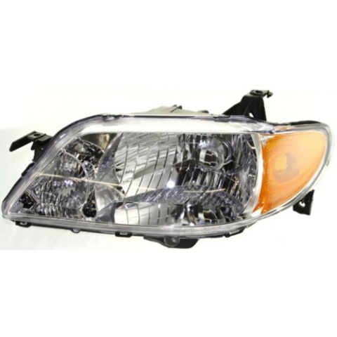 Fits 01-03  PROTEGE SEDAN LEFT DRIVER HEADLAMP ASSEMBLY With/ALUMINUM BEZEL