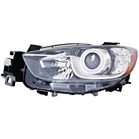 Fits 13-16 MAZDA CX-5 LEFT DRIVER HALOGEN HEADLAMP ASSEMBLY