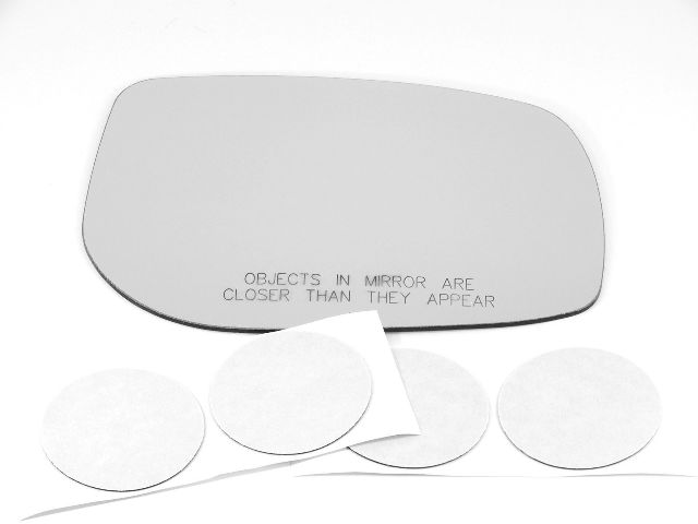 Fits 09-13 Pont Vibe, Toy Corolla, Matrix Right Pass Mirror Glass Lens w/Silicone