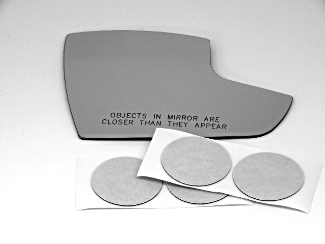 Fits 13-16 Ford Escape, C-MAX Right Pass Lower Convex Mirror Glass Lens W/ Silicone