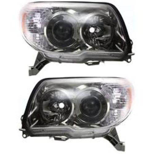 Fits 06-09 Toyota. 4Runner Left & Right Headlight Units W/Smoked Bezel - pair
