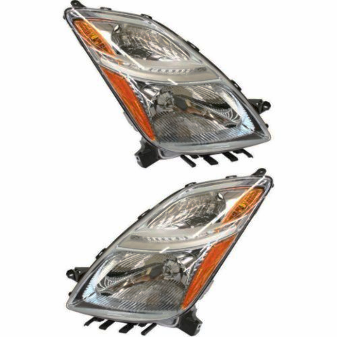 Fits Prius From 11/05 - 09 Left & Right Set Headlight Assembly Halogen Type