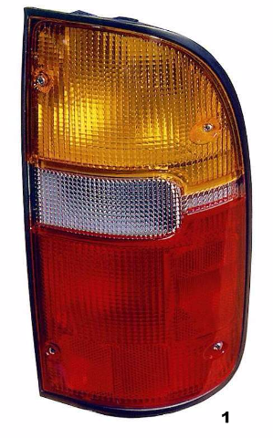 Fits 95-00  TACOMA RIGHT PASSENGER TAIL LAMP ASSEMBLY
