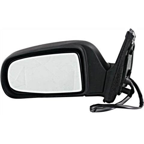 Fits 98-03  Sienna Left Driver Mirror Power With Heat Non-Painted Black