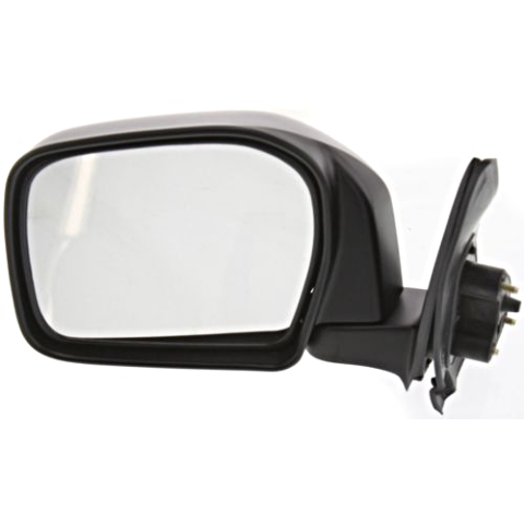Fits 00  Tacoma Left Driver Mirror Manual Black Folding Unpainted