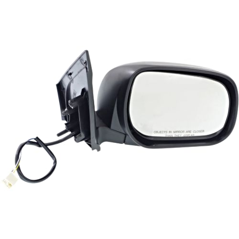 Fits 06-08  Rav4 Right Passenger Power Mirror Non-Painted Black