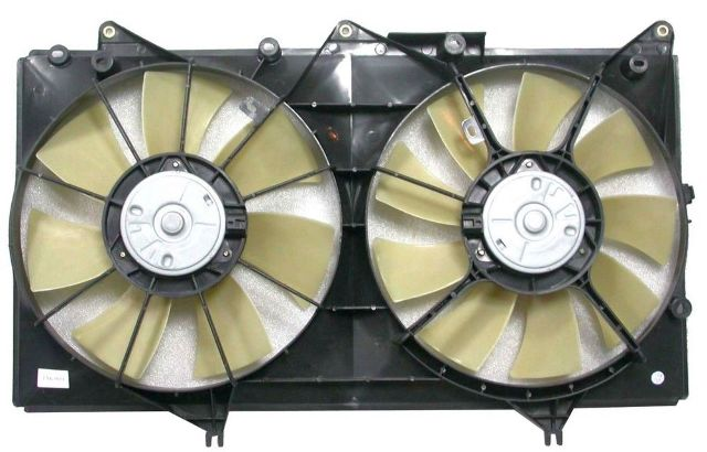 Fits 02-03 Lex ES300; 04-06 Lex ES330 A/C Condenser Dual Fan Assembly