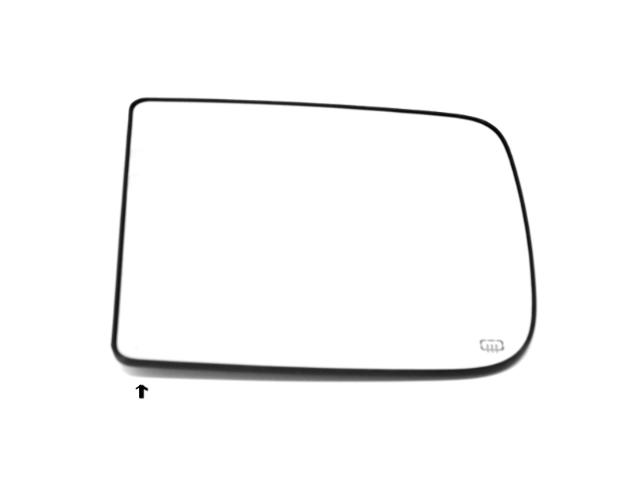 Fits 09-18 Ram 1500 10-12 2500 3500 Left Dr Heat Upper Flip Up Tow Mirror Glass w/Back Plate OE