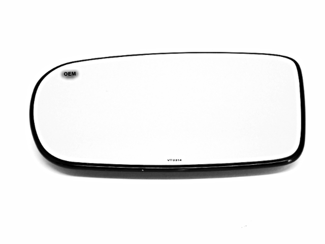 Fits 11-18 DG Charger Left Driver Mirror Glass w/ Rear Holder OEM