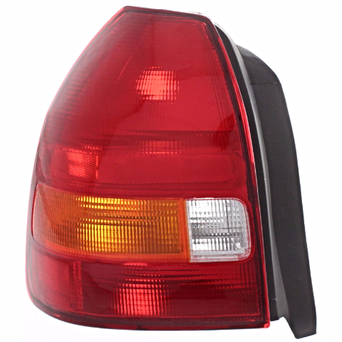 Fits 96-00  Civic Hatchback Left Driver Tail Lamp Assembly Amber/Red