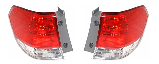 Fits 08-10  Odyssey Left & Right Set Tail Lamp Assemblies Quarter Mounted
