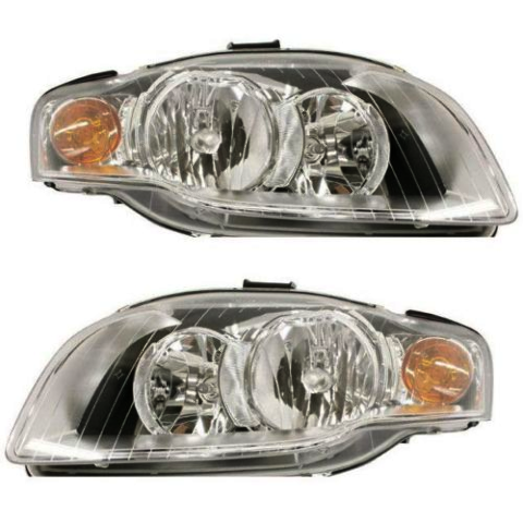 Fits 05-08 Audi A4 Gen 3 Sedan/Wagon 07-09 A4 Conv Left & Right Headlamp - Set