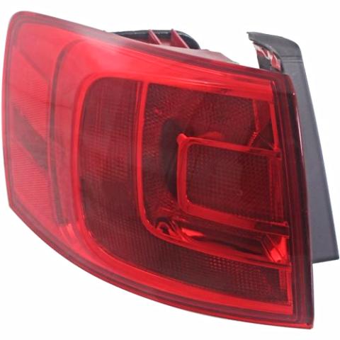 Fits 11-16 VW Jetta Sedan, 12-16 GLI Left Driver Tail Lamp Quarter Mounted