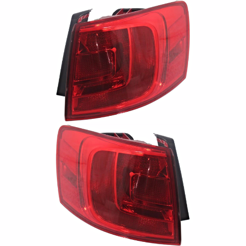 Fits 11-16 VW Jetta Sedan, 12-16 GLI Left & Right Set Tail Lamp Quarter Mounted