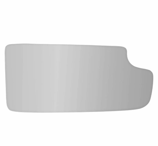 Fits 14-18 Silverado, Sierra Right Pass Lower Tow Mirror Glass Lens w/Silicone