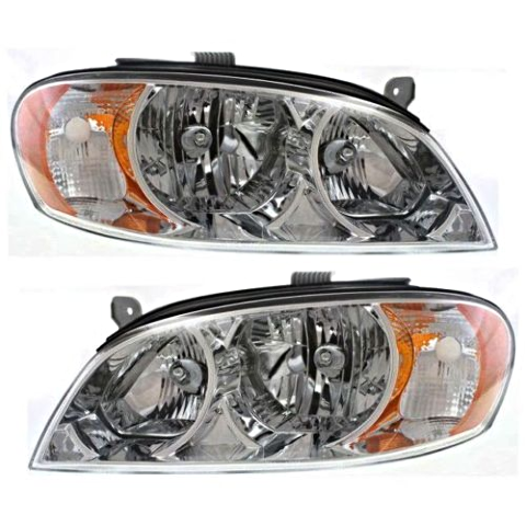 Fits 02-04 Spectra Sedan (exc hatchback) Left & Right Headlamp Assemblies - Set