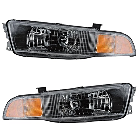 Fits 02-03 MITSUBISHI GALANT LEFT & RIGHT SET HEADLAMP ASSEMBLIES