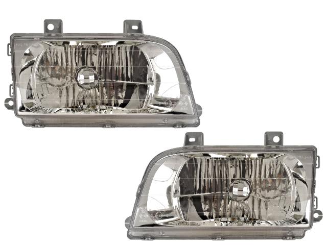 Fits 98-02 Kia Sportage Left and Right Headlamp Assemblies - Set