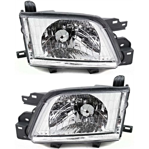 Fits 01-02 Subaru Forester Left Driver & Right Passenger Headlamp Assembly Set