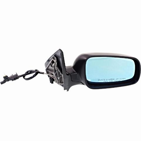 Fits 99-07 Golf, 99-05 Jetta Right Pass Mirror Manual Remote W/Blue Glass