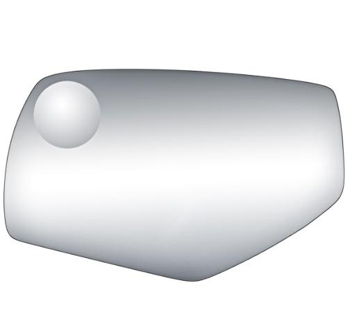Fits 14-18 1500 Silverado, Sierra 15-18 2500, 3500 Left Driver Mirror Glass Lens