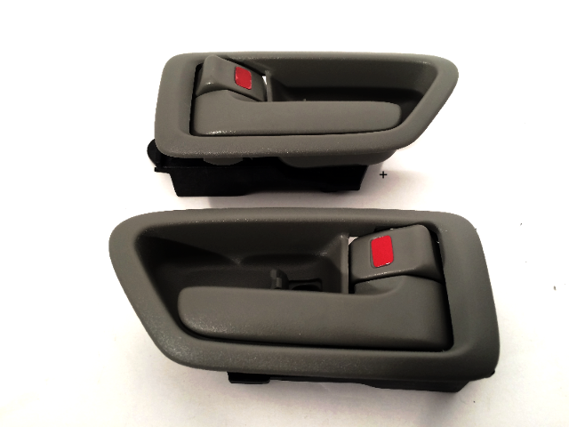 Fits 97-01 Camry Left & Right Interior Door Handles w/ Bezel Gray Fits Front & Rear