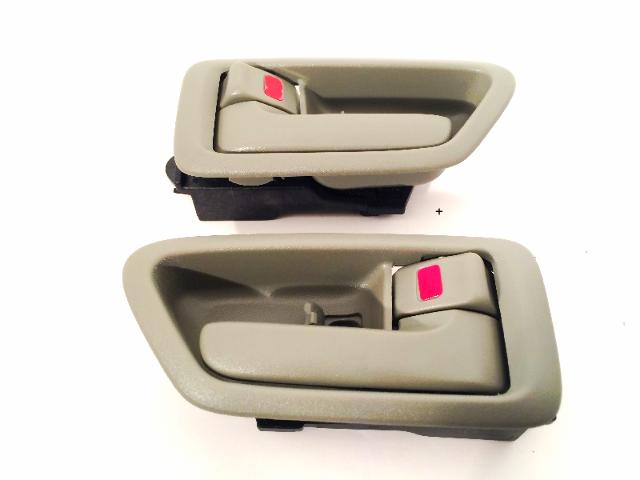 Fits 97-01 Camry Left &Right Set Front / Rear Interior Door Handle w/ Bezel Sage