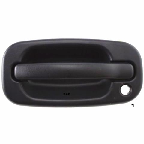 Fits 99-(07)  Silverado Classic Left Driver Exterior Door Handle Text Black