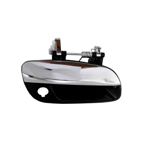 Fits 01-06 Elantra Right Pass Front Outside Door Handle w/Keyhole Black / Chrome